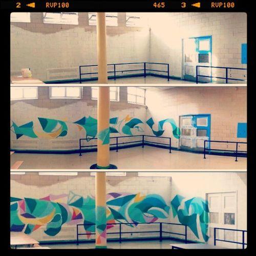 Mastrocola Wip Mural Marymount highschool montreal colorize
