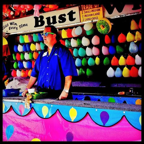 Bust  Streetphotography Fairground Attraction Balloons