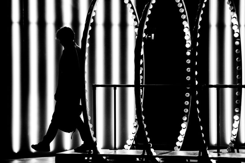 Art Black And White Blackandwhite Photography Carsten Höller Circle Contemporary Art Doubt Geometric Shape Hangarbicocca Indoors  Lifestyles Light LINE Man Pirelli_hangarbicocca Solitude Steps