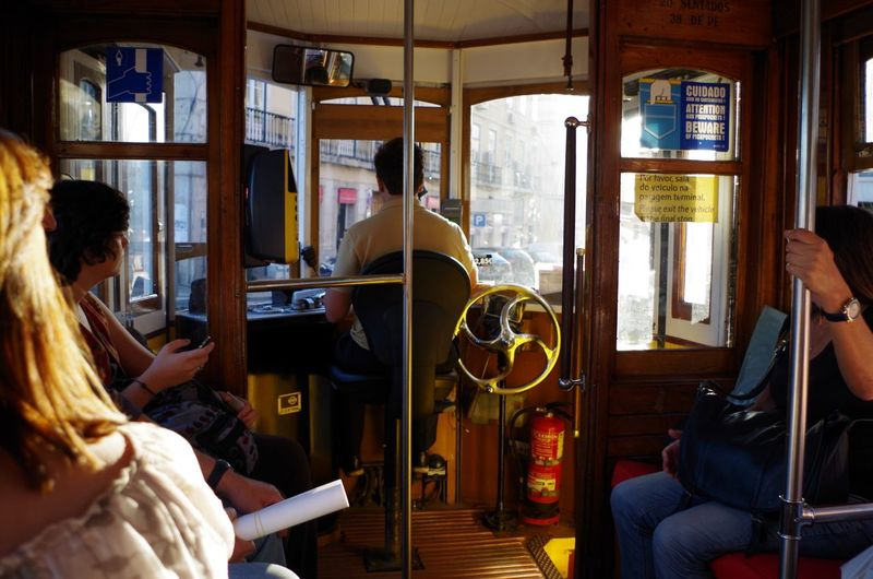 People Watching Prague Prague Czech Republic Straßenbahn Tram Travel Arts Culture And Entertainment Indoors  Inside Tramway Lifestyles Old Tram People People Photography Prague Travel Real People Sitting Technology Tramway Travel Destinations