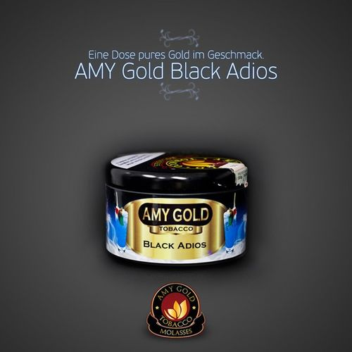 AMY Gold Black Adios: → http://amylink.at/black-adios Amy Gold Amygold Black adios hookah shisha tobacco