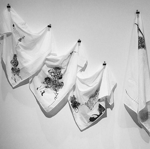 Ena MULAVDIĆ Headscarves Art ArtWork Art Gallery Artphoto Artphotography Handmade HEAD Acsessory Sarajevo Bosnia Saltwater Biennial Tuzlusu Istanbulbieanali Peramuseum Istanbul Turkey Vscocam VSCO Blackandwhite EyeEm Best Shots EyeEm Best Edits