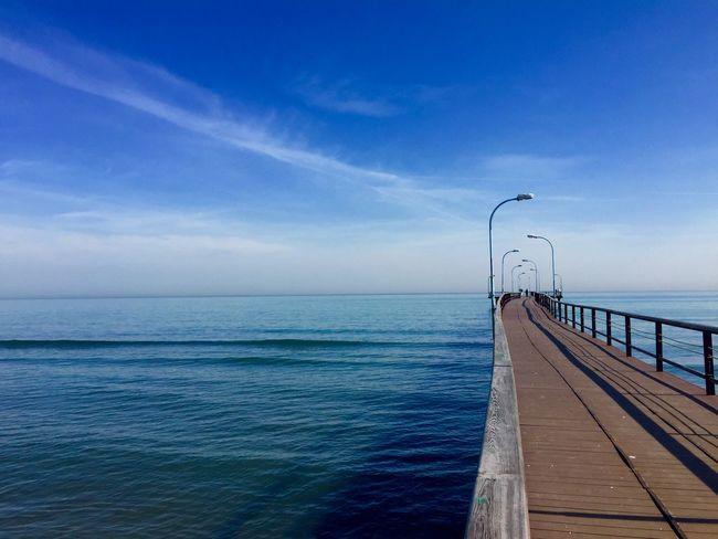 Atakumiskele Morning Sea And Sky Pier Seaside Waterscape Landscape