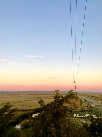 Power Line  Nature Landscape Tranquil Scene Tranquility Sky Scenics Beauty In Nature No People Outdoors