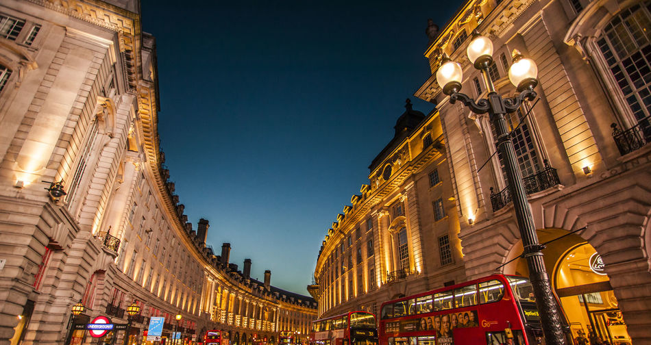 London Architecture Building Exterior Built Structure City Illuminated Low Angle View Neon Night No People Outdoors Picadillycircus Sky Street Light Travel Destinations
