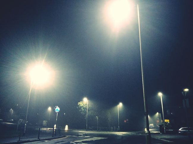 foggy street lights Foggy Fog Foggynight Street Lights Roads Road Junction Lens Flare Floodlight