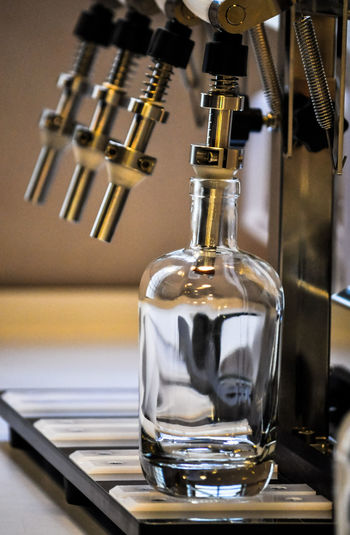 Close-up of beer tap in bar