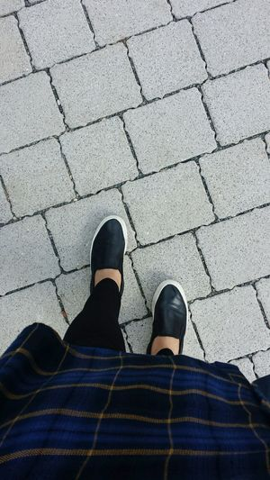 Shoe Human Leg Low Section Real People High Angle View Lifestyles Footpath Outdoors One Person Day College Plaid Shirt  Victoria Park