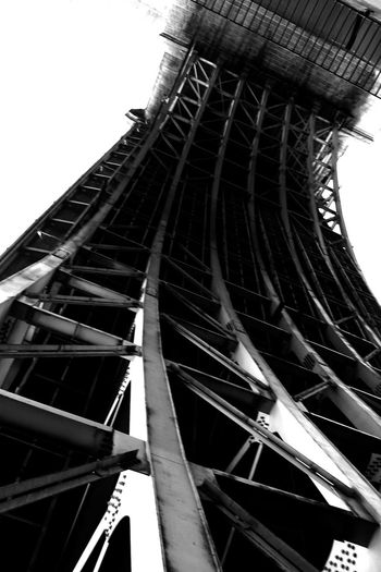 Low angle view of eiffel tower