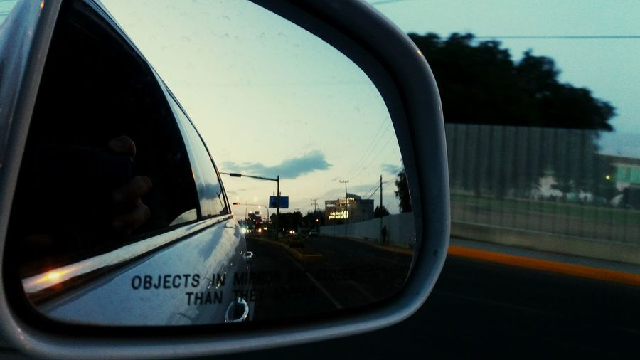 Car Mirrow Reflection Behind Retrovisor Bluesky Trafic Urban Urban Spring Fever These Streets Belong To Me