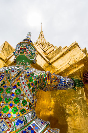 Wat Phra Kaew, temple of Emerald Buddha in Bangkok, Thailand ASIA Asian  Asian Culture Bangkok Buddha Buddhism Colorful Contre Plongée Emerald Famous Gold Landmark Perspective Place Religion Siam Spirituality Statue Sun Temple Thailand Travel Ubosot Wat Phra Kaew Worship