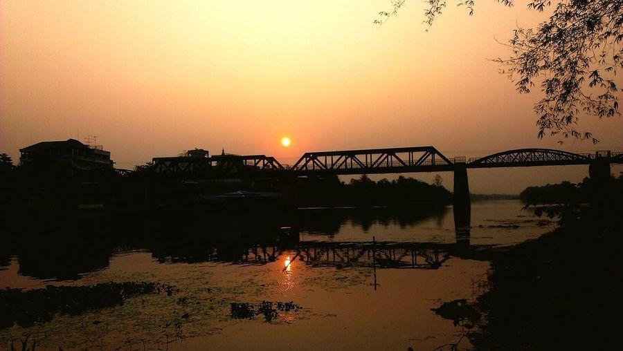 Sunshine For Sunday Silhouette Bridge Train Riverside