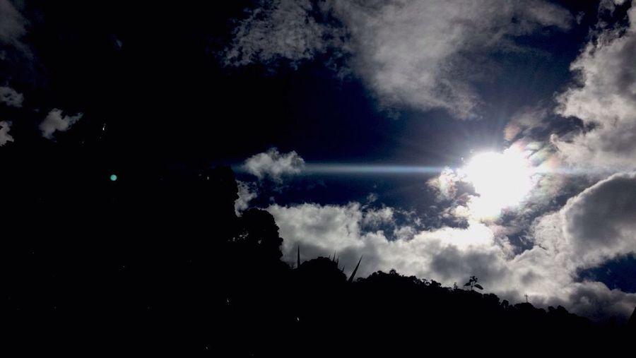 Siluet Amanecer Destello De Sol Sky And Clouds Clouds And Sky