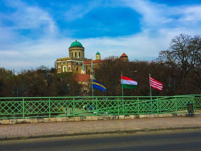 Esztergom Esztergomi Bazilika Flag Flags Szekely Magyar Magyarország Hungary Hungarian Bridge