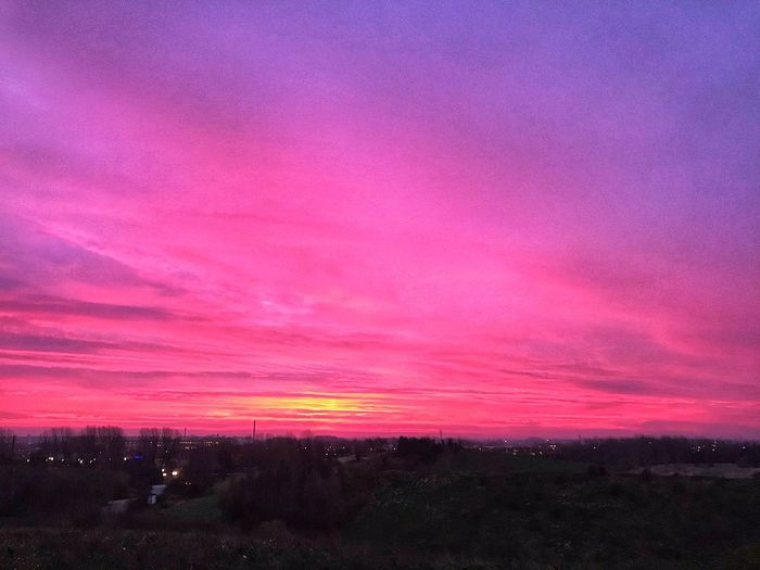 Pink Color Beauty In Nature Sky Scenics - Nature Sunset Tranquil Scene Cloud - Sky