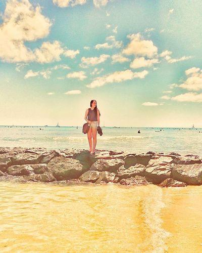 Beautiful people in beautiful places (far away from the snow) Waikiki Beach Hawaii