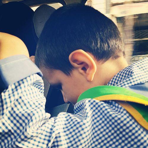 . بچه مدرسه ایها فردا تعطیل پنجشنبه و جمعه اینجا تعطیل زمان ما که اینطوری نبود نسل_سوخته School Boy Tired & Angry Iran