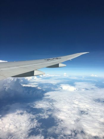 Fly to London Garuda Indonesia Aerial View Airplane Blue Nature Transportation Airplane Wing Beauty In Nature