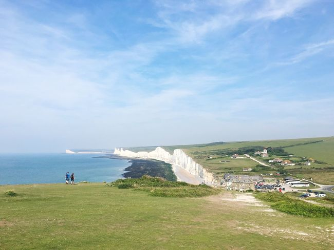 Sea Sky Grass Beauty In Nature Outdoors Landscape South Downs Way Birling Gap Cliff