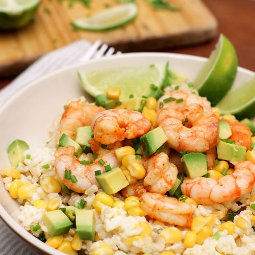 Tex mex shrimp rice Corn Lime Fresh Salad Avocado Rice Shrimp Texmex Food And Drink Food Healthy Eating Freshness Ready-to-eat Indoors  Plate
