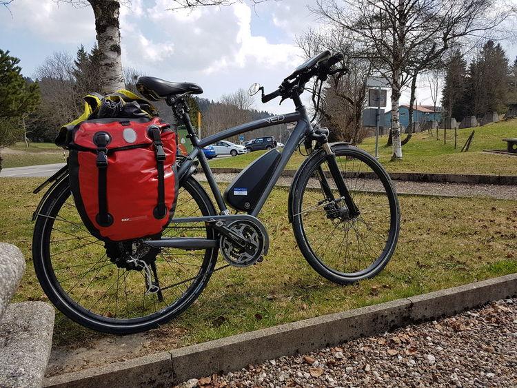 Bicycle Transportation Outdoors Bicycle Trip No People Komoot Col Des Etroits Tree Sky E-bike VEO-Bike