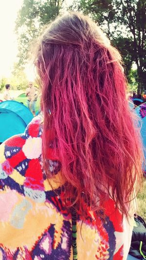 Pink hair Pink Hair Hairdontcare High Crazy Moments Enjoying Life Light Up Your Life Stone Festival Music #garorock