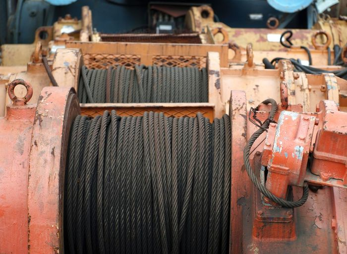 Close-up of cables