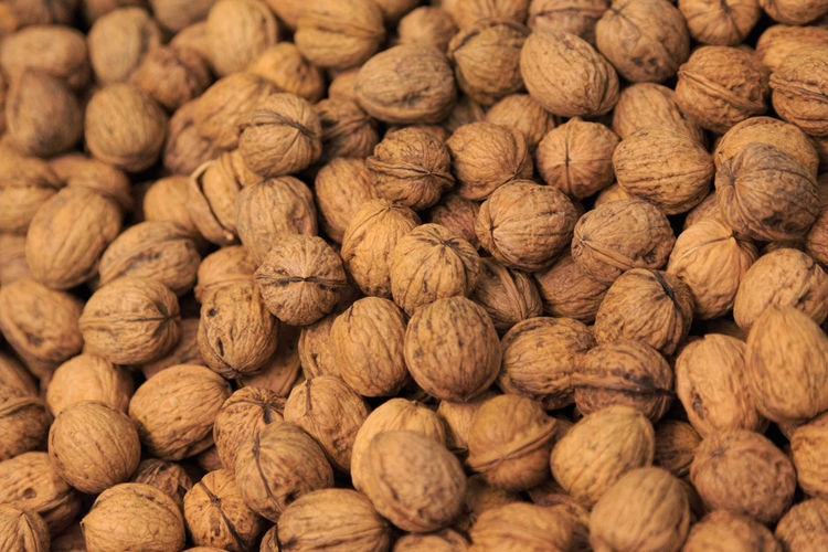 Abundance Backgrounds Brown Close-up Day Dried Food Dried Fruit Food Food And Drink Freshness Full Frame Healthy Eating Indoors  Large Group Of Objects No People Nut - Food Nutshell Textured  Walnut