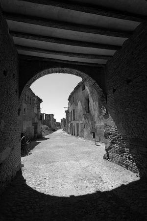 Defense Belchite Civil War Ruins Entrance Blackandwhite Photography Blackandwhite Dark Light