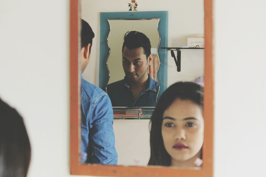 mirrors Canon Canonphotography Canon1100d EyeEm Selects Adults Only Indoors  Adult Business Finance And Industry Only Men Young Adult People Real People Casual Clothing Indoors  Two People Lifestyles Togetherness Day Young Men Young Women