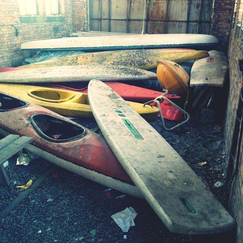 Decaying kayaks