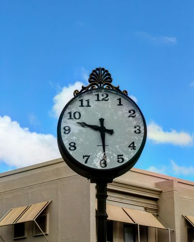 Clock Time Clock Face Minute Hand Sky Cloud - Sky No People Old-fashioned Day Outdoors Hour Hand Astronomy Astronomical Clock Puerto Rico