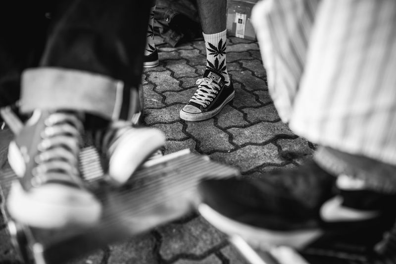 Blackandwhite Canabis Candid Chucks Converse EyeEmNewHere Outdoors Real People Shoes