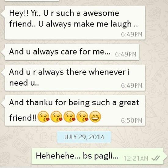 True Friend Bs Kr Pagli Rulaeygi Kya Followme Followback No_Editing