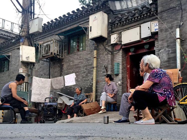 People Neighbor Sitting Streetphotography