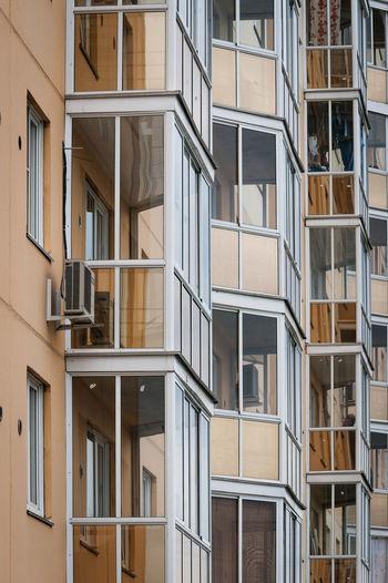 Fragment of  block flats