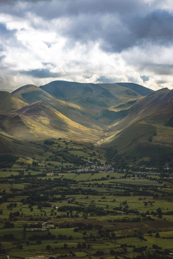 View from Skiddaw. Lake District England Countryside Travel Travel Destinations Rural Scene Tranquility Land Agriculture Nature Day Beauty In Nature Field Sky Cloud - Sky Landscape Scenics - Nature Idyllic Rolling Landscape Outdoors Non-urban Scene Mountain No People Tranquil Scene Farm