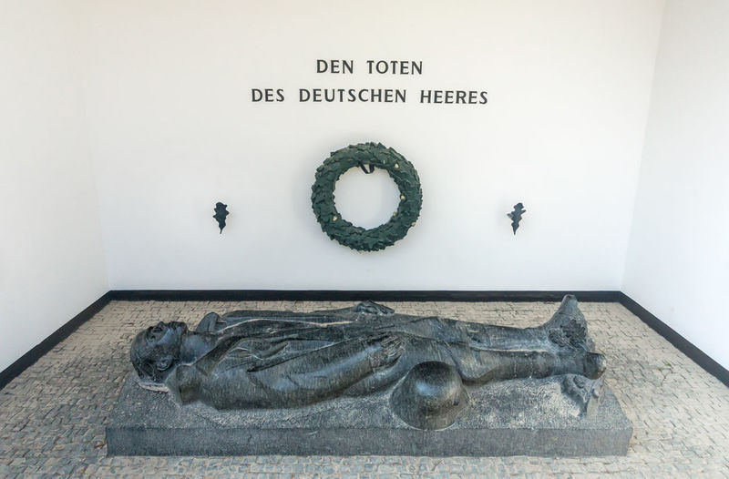 Ehrenmal des Deutschen Heeres Coblenz Ehrenbreitstein Ehrenmal Des Deutschen Heeres Koblenz Memorial Cenotaph Germany No People Sculpture Text