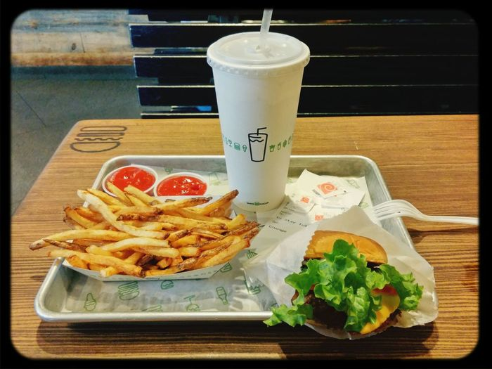 Checking out Shake Shack for the first time. New York