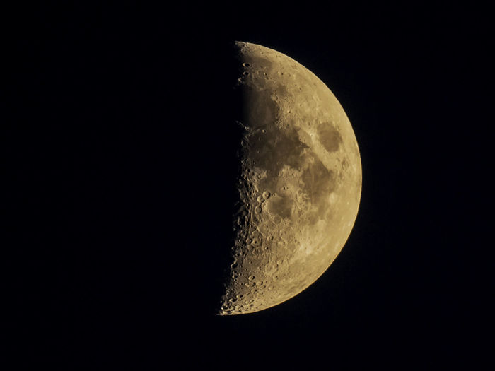Space Moon Astronomy Sky Night Moon Surface Half Moon Beauty In Nature No People Nature Planetary Moon Tranquility Scenics - Nature Copy Space Tranquil Scene Space Exploration Exploration Idyllic Outdoors Majestic Black Background Astrology Space And Astronomy Moonlight