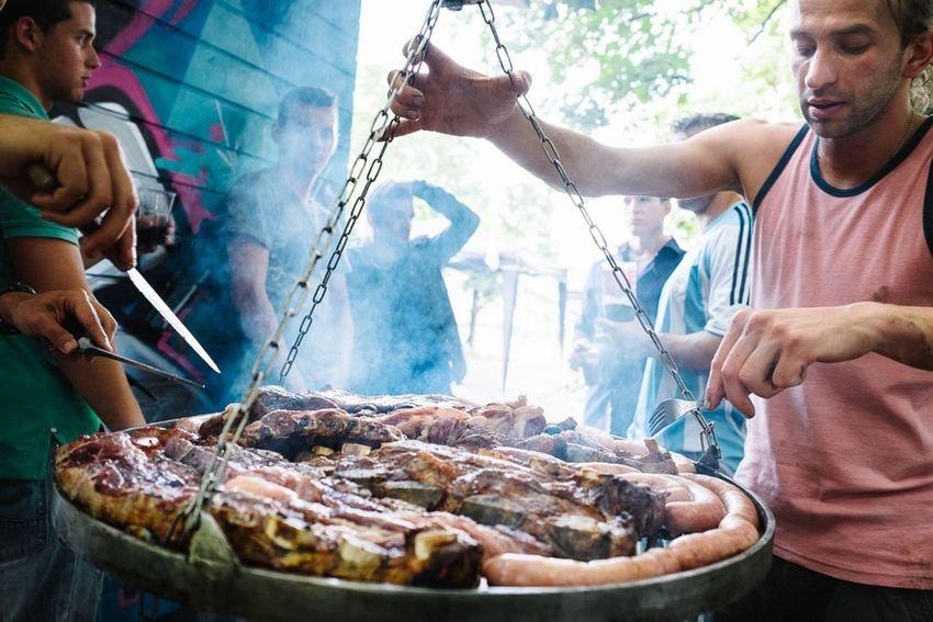 Asado People Grilling Vamos Argentina