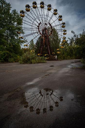View of ferris wheel in park