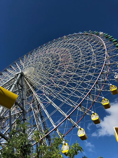 Amusement Park Sky Low Angle View Amusement Park Ride Arts Culture And Entertainment No People Blue