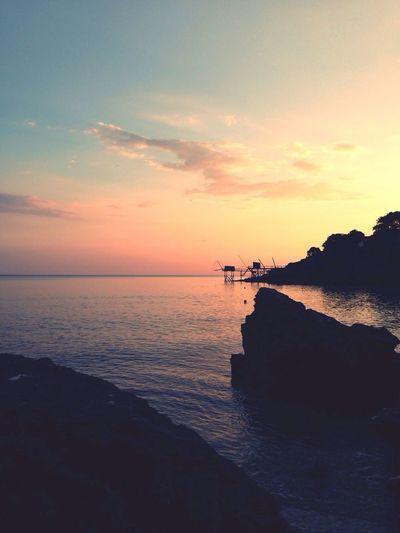 Landscape Sea Sunset Skyline