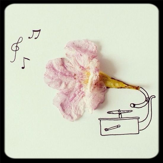 Gramaphone Flower Art Beautiful ♥ Check This Out