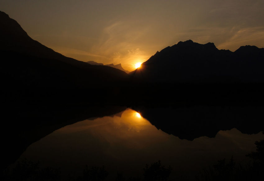 Sunset_collection Astronomy Beauty In Nature Canada Day Lake Lake View Lakes  Mountain Mountain Range Nature No People Outdoors Reflection Scenics Shaddow Shaddow And Light Silhouette Sky Star - Space Sunset Tranquil Scene Tranquility Water