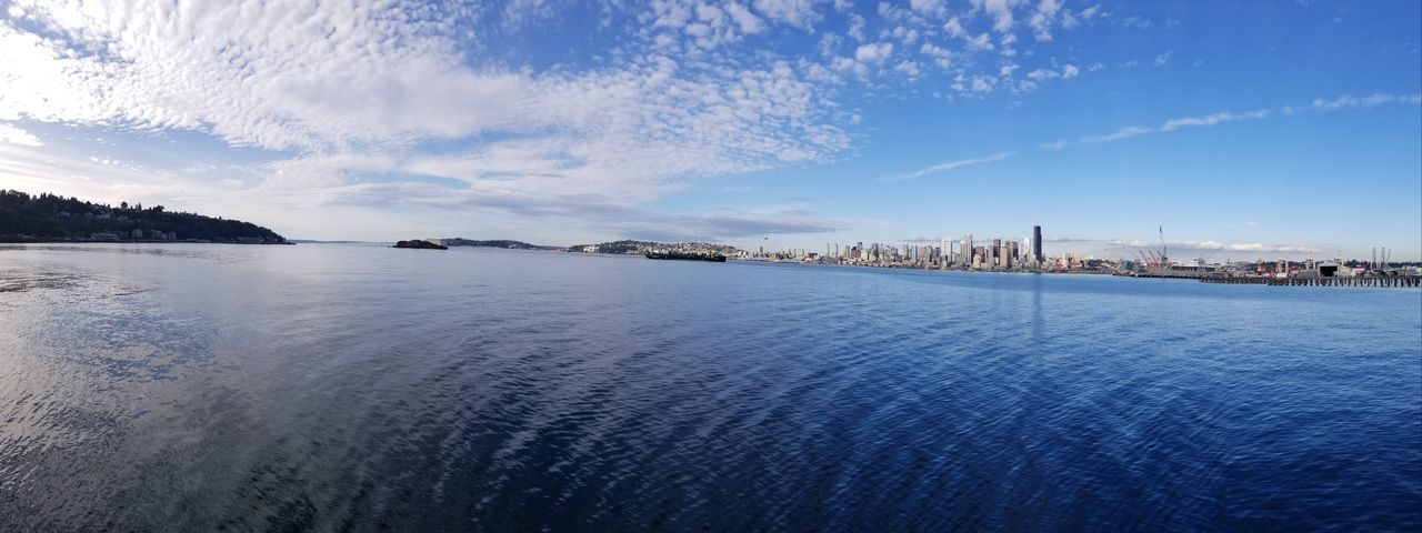 Panoramic Cityscape City Cloud - Sky Outdoors No People Day Water Seattle, Washington Drone  Drone Moments Drone Dji Droneshot