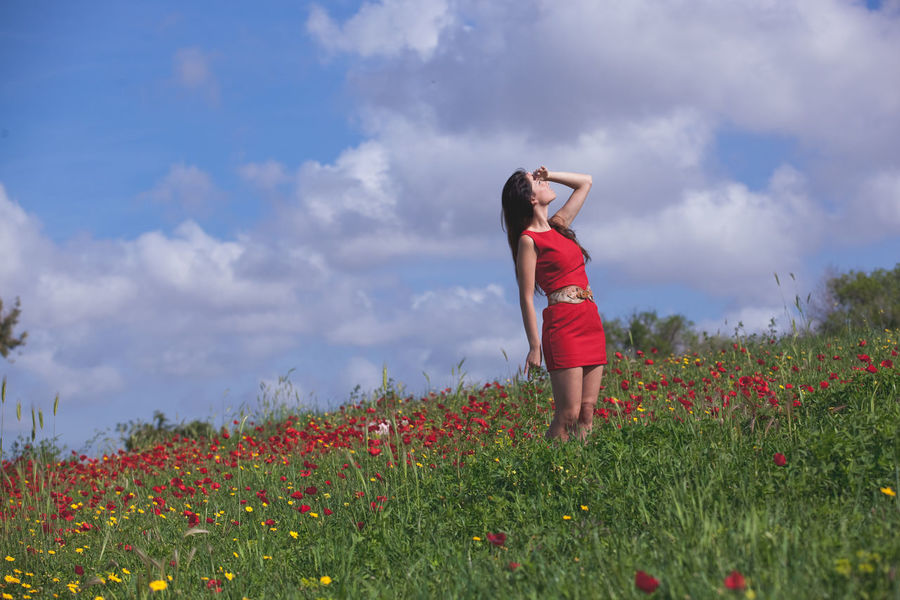 Beauty of history VII Back Lit Balance Beautiful Beauty In Nature Carefree Cloud Cloudy Escapism Field Fun Grass Growth Italy Meadow Mirkomacariportrait Moody Sky Nature Orange Color Outdoors Portrait Recreational Pursuit Roma Sky Storm Cloud
