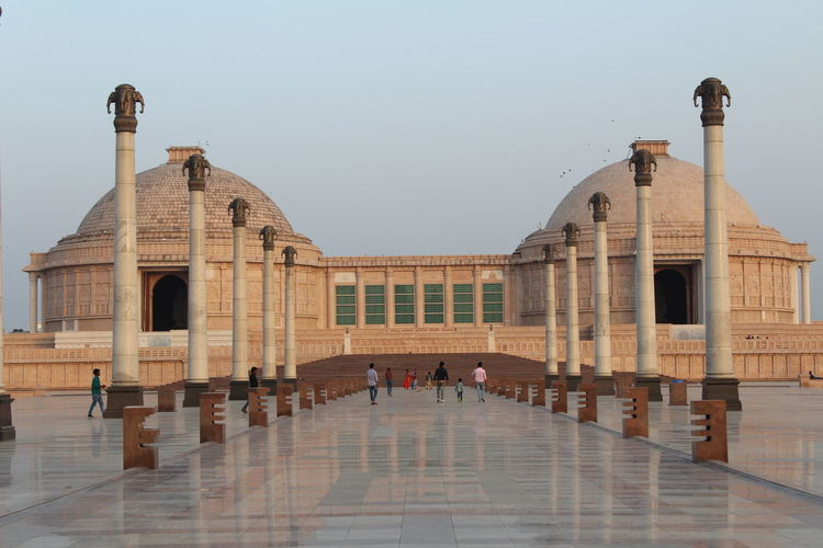 Arch Architectural Column Architecture Building Exterior Built Structure Clear Sky Constitution Day Elephant History Huge India Outdoors Politics And Government Real People Sky Stone Material Travel Destinations