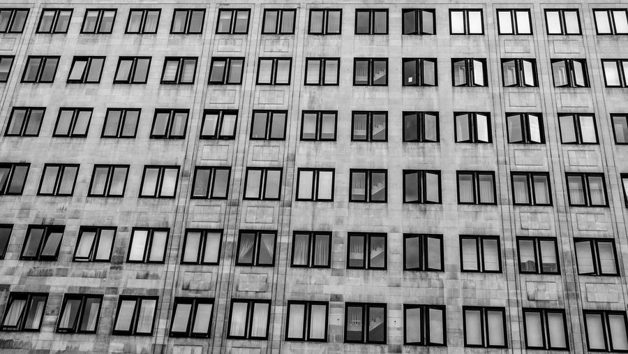 Black & White EyeEm EyeEm Best Edits EyeEm Best Shots EyeEm Gallery EyeEmBestPics London Architecture Backgrounds Black And White Blackandwhite Building Building Exterior Built Structure City Day Eyeemphotography Full Frame Low Angle View No People Pattern Repetition Street Photography Streetphotography Window